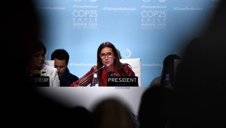 Die Umweltministerin Chiles, Carolina Schmidt, ist die Gipfelpräsidentin: Sie erntete harsche Kritik für ihre Moderation der Verhandlungen