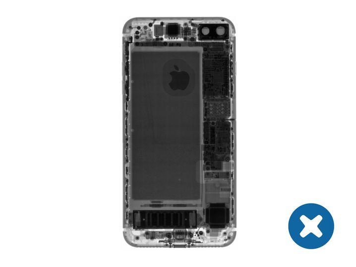 Röntgenaufnahme eines iPhone 7 Plus