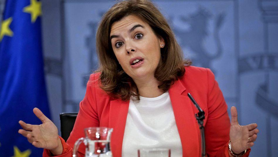 Vizeregierungschefin Sáenz de Santamaría: Klage vor dem Verfassungsgericht