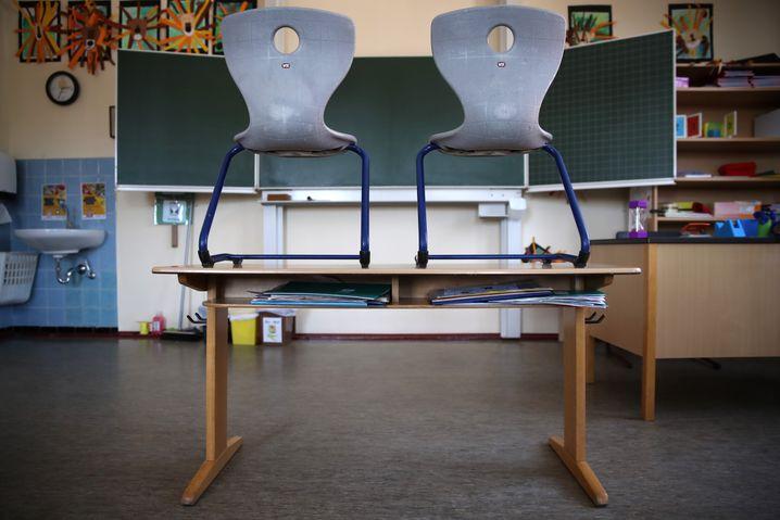 Leeres Klassenzimmer (in Heppenheim)
