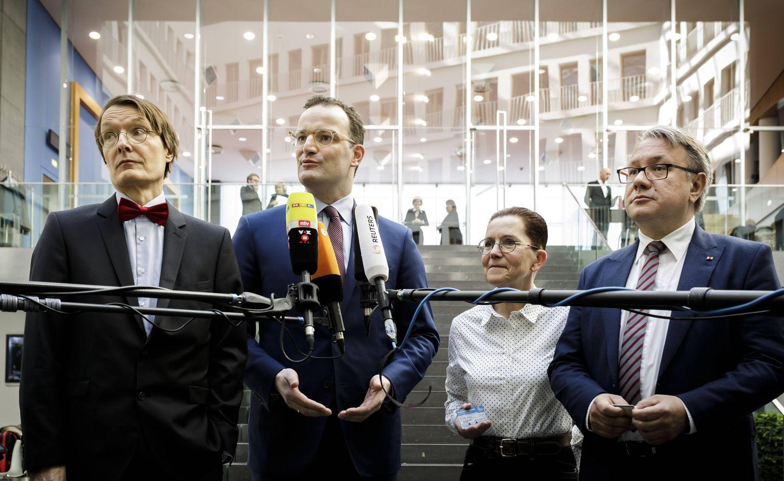 EINMALIGE VERWENDUNG Lauterbach/ Spahn