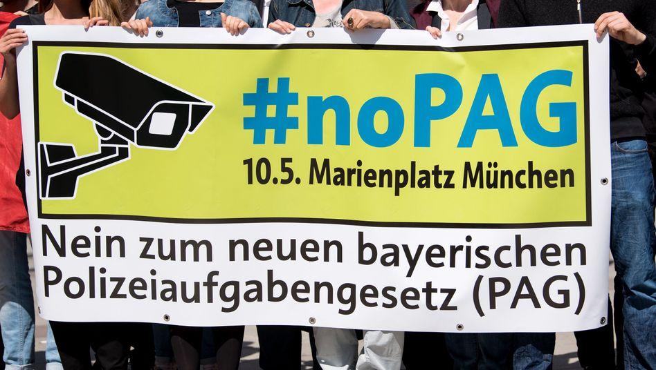 Demo gegen bayerisches Polizeigesetz in München (Archiv)