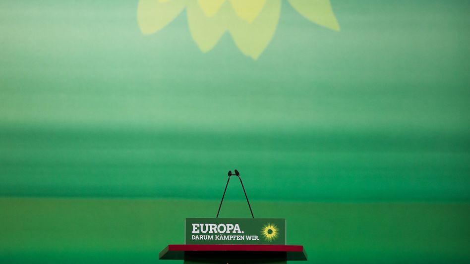 Rednerpult der Grünen