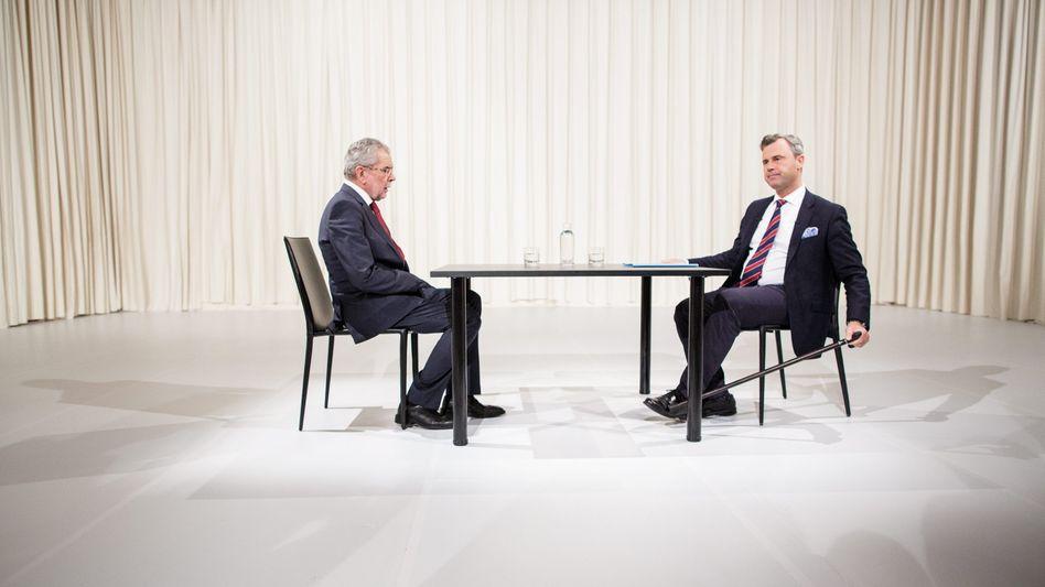 Grüner Alexander Van der Bellen, FPÖ-Kandidat Norbert Hofer