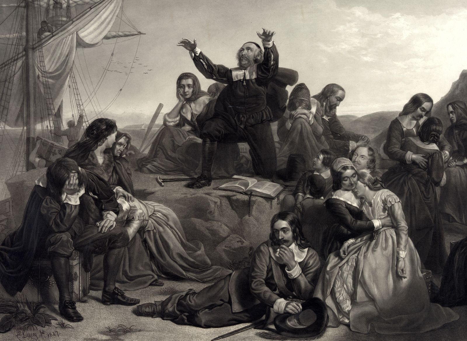 Departure Of The Pilgrim Fathers