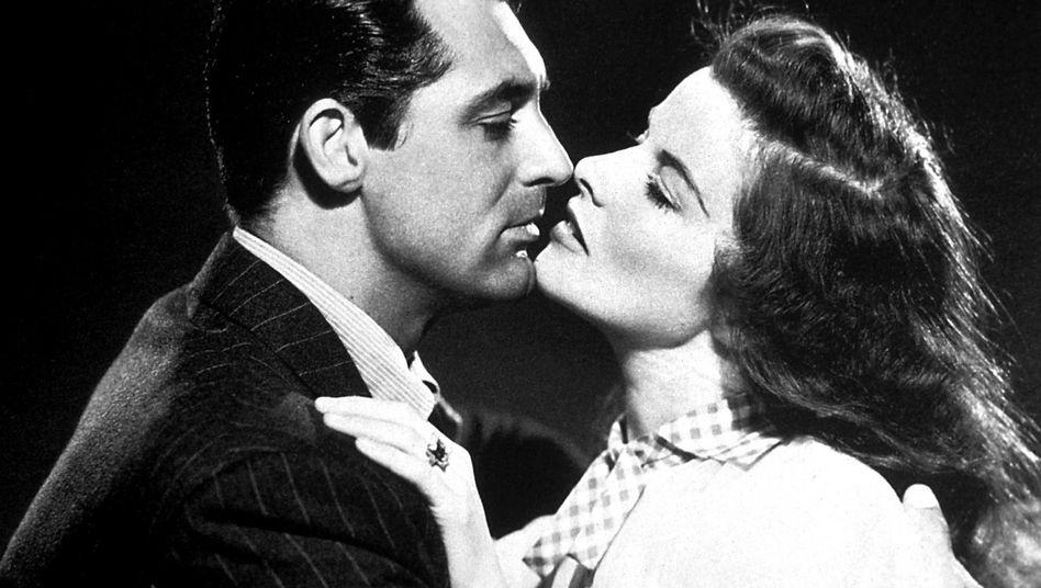 "Schauspielerin Katharine Hepburn mit Kollege Cary Grant in ""The Philadelphia Story"", 1940"