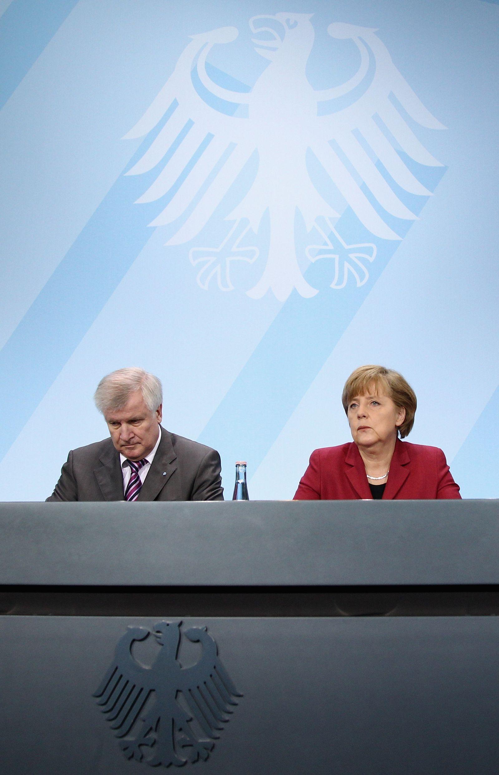 Seehofer/ Merkel