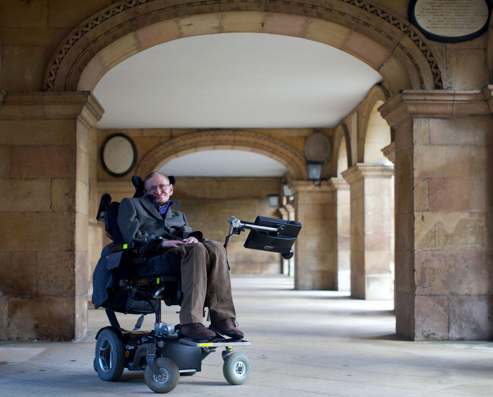 Hawking/ Rollstuhl