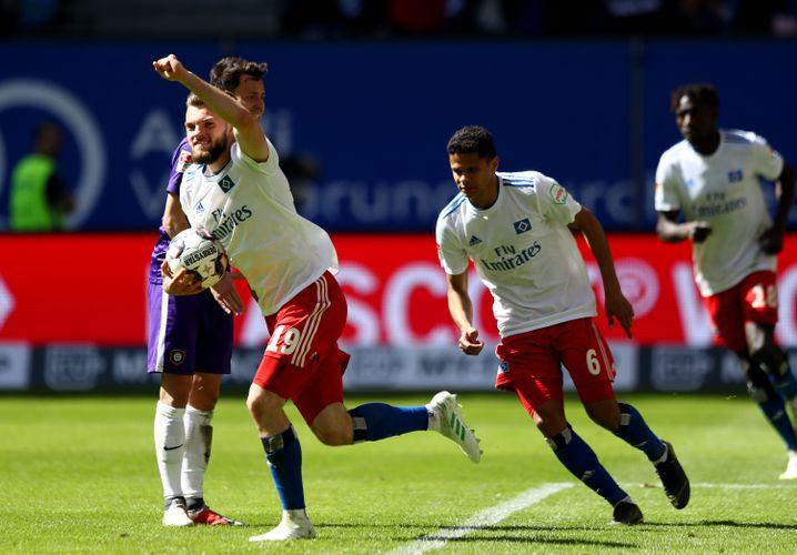 Traf erneut für den HSV: Manuel Wintzheimer