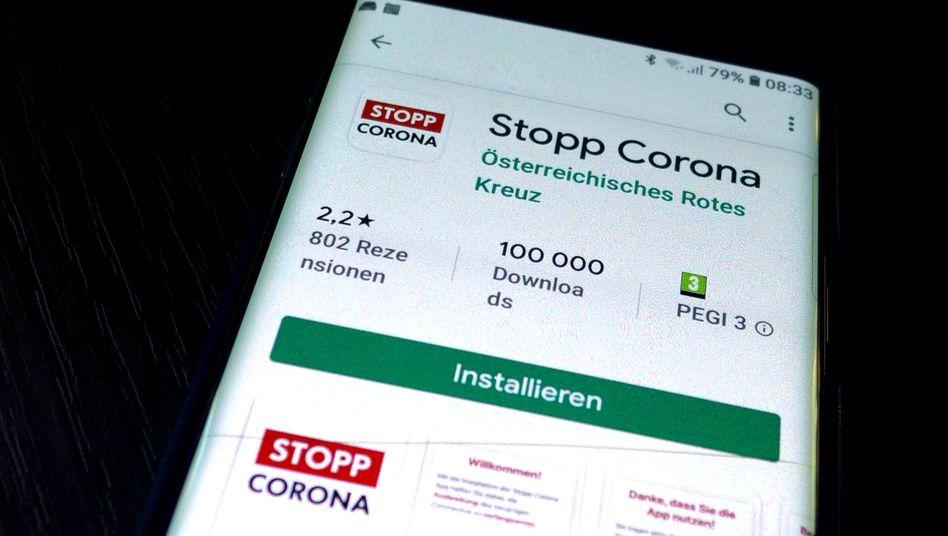 """Die österreichische """"Stopp Corona""""-App des Roten Kreuzes"""