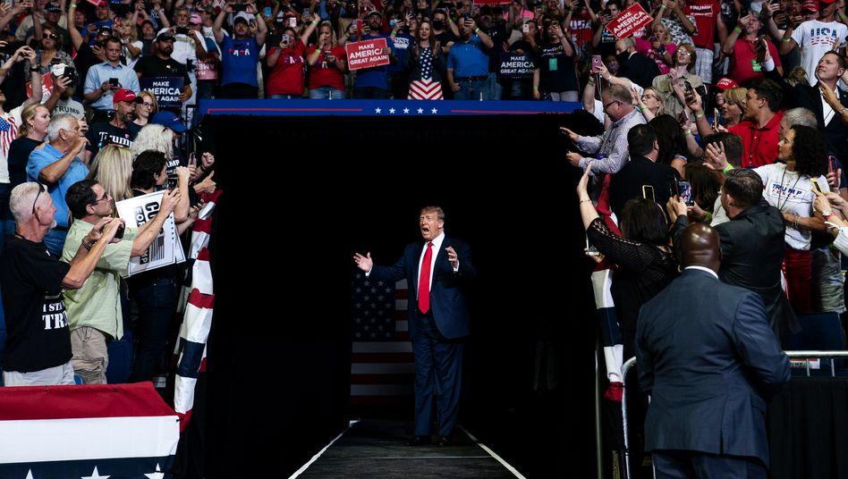 Donald Trump bei einer Wahlkampfveranstaltung in Tulsa