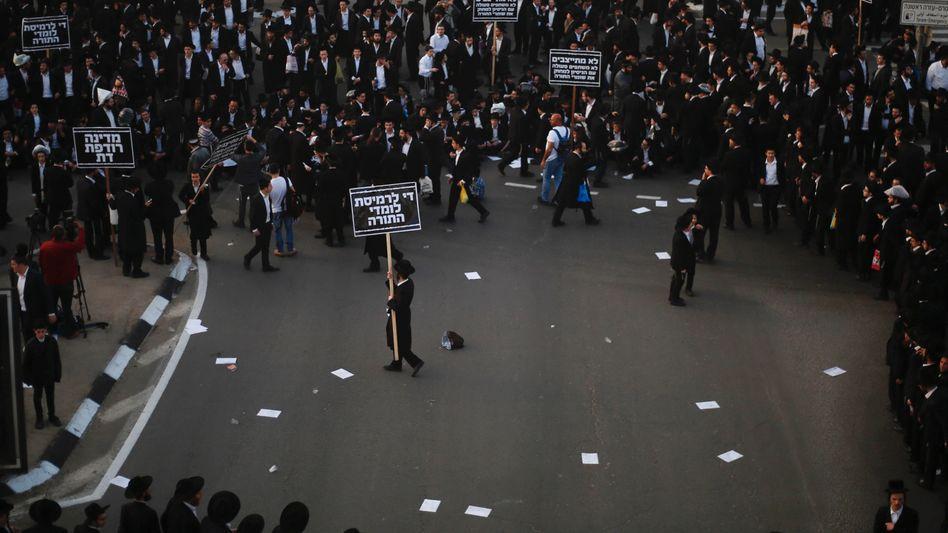 Protest von Ultraorthodoxen