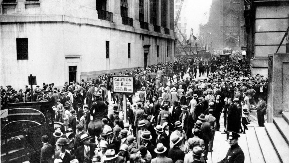 Auflauf an der New Yorker Wall Street 1929: Wie kann ein New Deal anno 2020 aussehen?