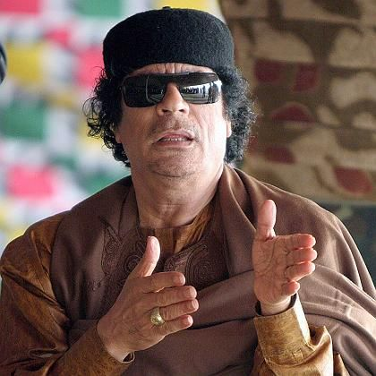 "Libyan leader Moammar Gadhafi, Adhraf al-Hazouz claims, ""needed someone to blame."""
