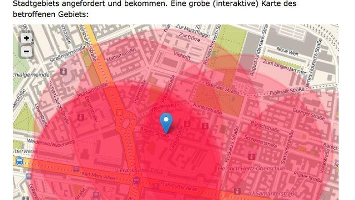 Funkzellen-Visualisierung: Das Blog netzpolitik.org enthüllt Berliner Fahndungstaktik