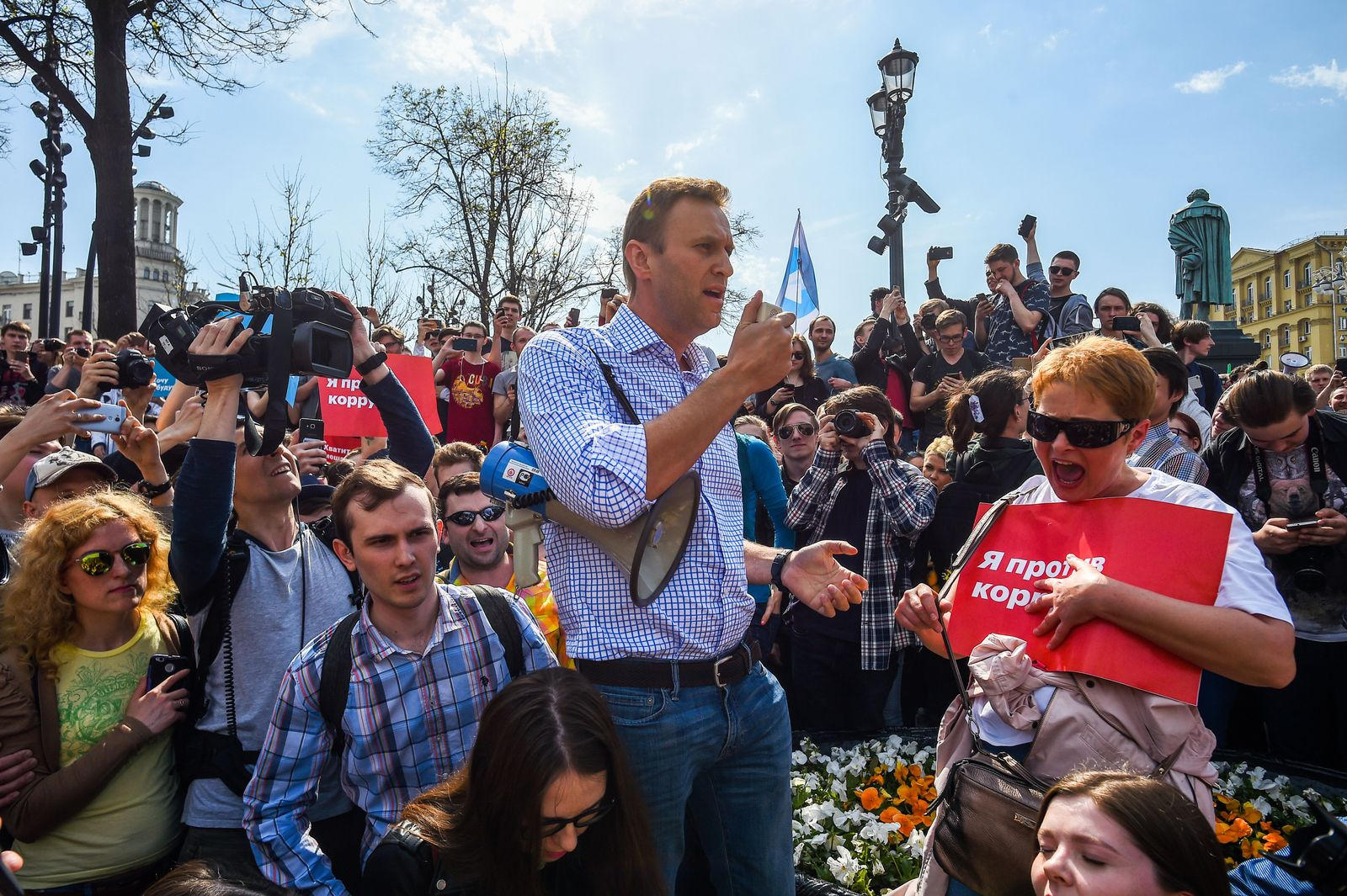 Alexei Navalny at liberal opposition rally in Moscow, Russian Federation - 05 May 2018