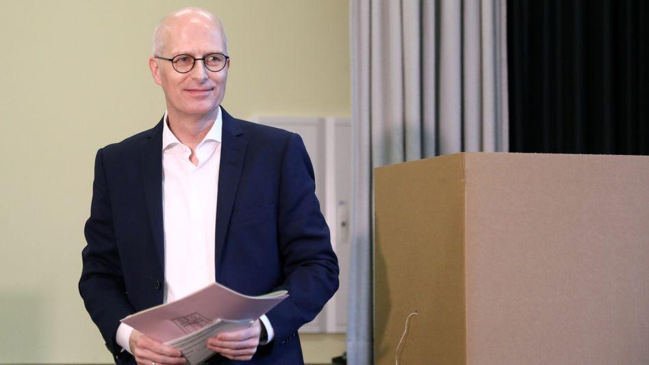 Kann Bürgermeister bleiben: Peter Tschentscher (SPD)