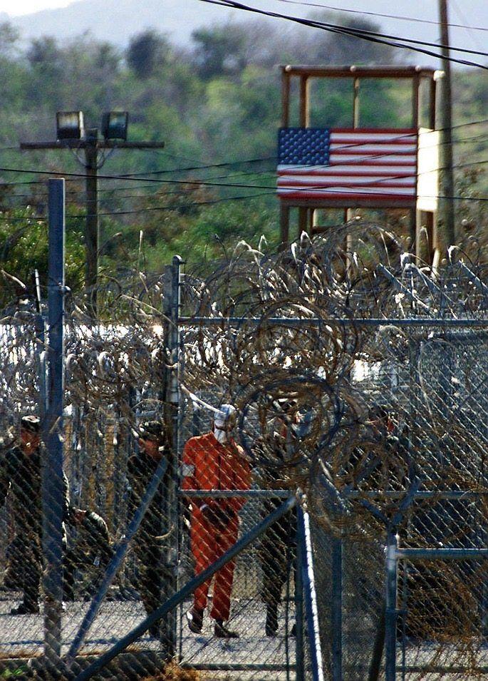The Guantanamo Bay prison in 2002