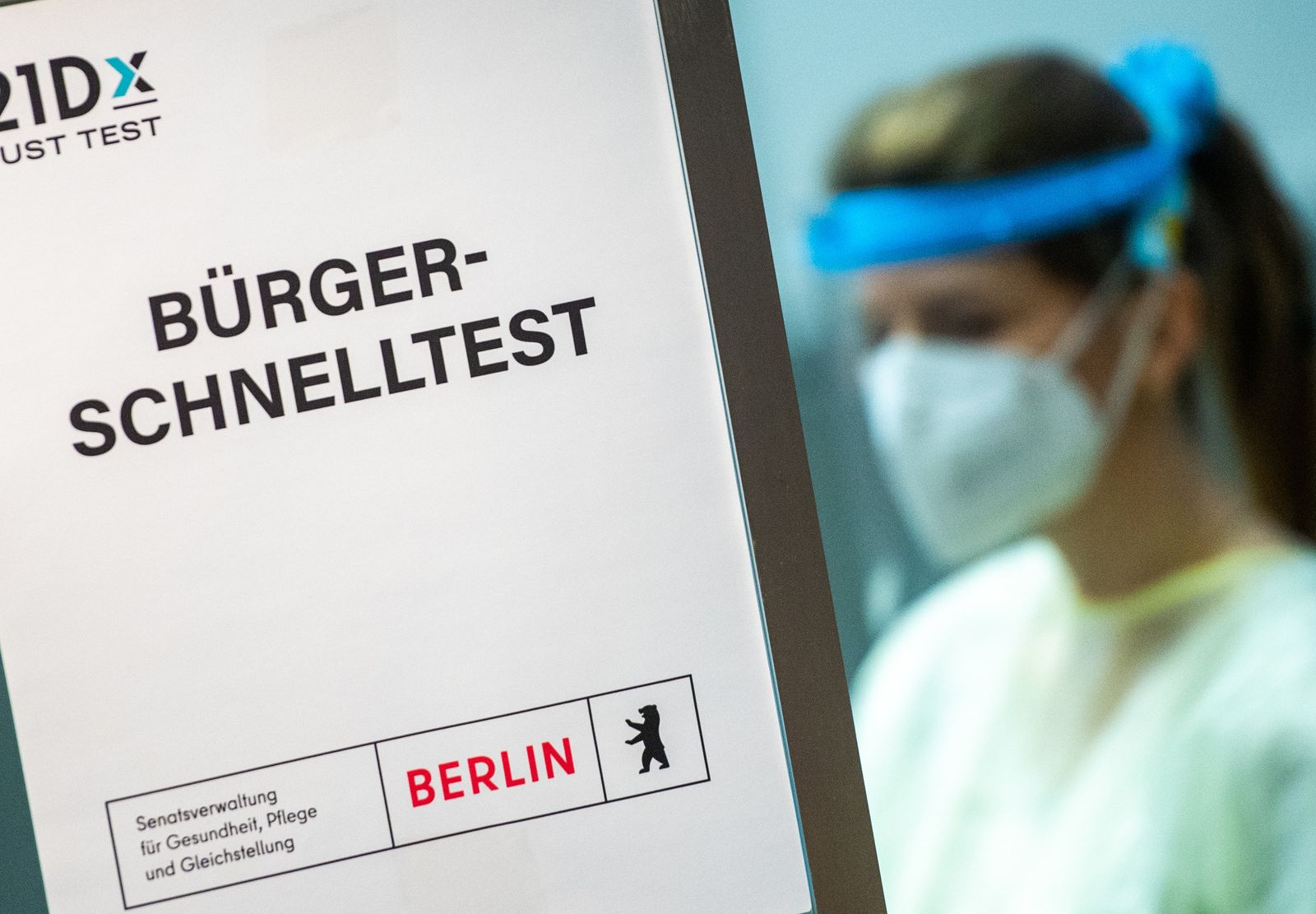 Coronavirus - Corona-Testzentrum in Berlin