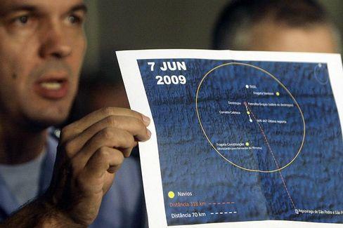 Karte der Unglücksstelle: Experten vermuten, dass ein defekter Geschwindigkeitsmesser für das Unglück der Air-France-Maschine mitverantwortlich gewesen sein könnte