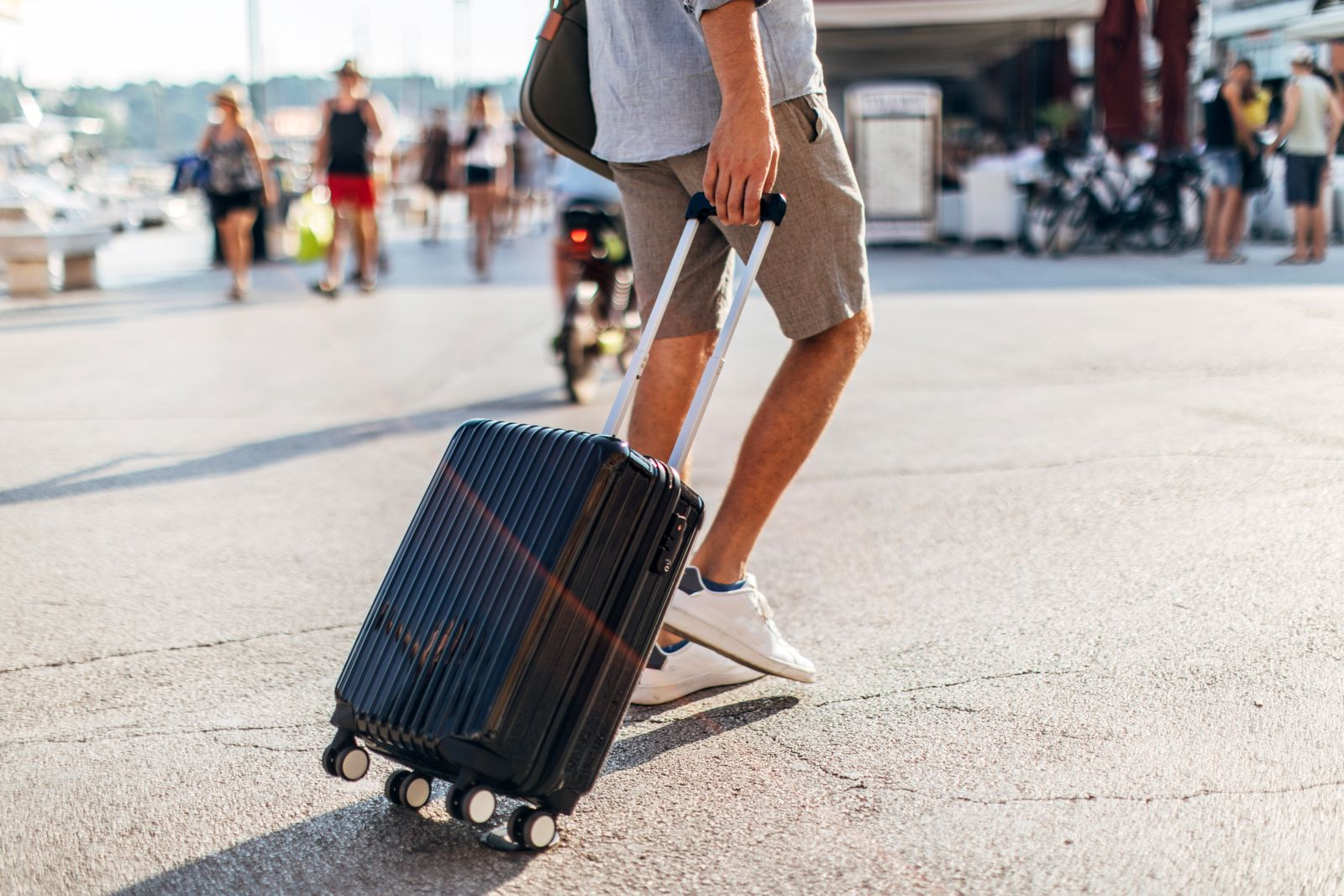 Tourist with suitcase