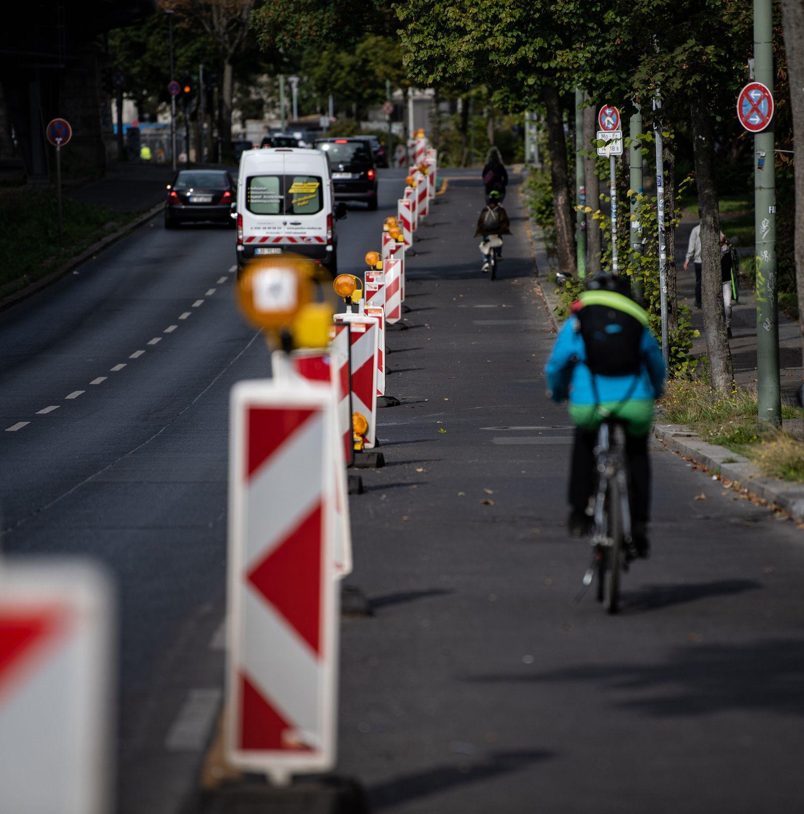 Pop-up-Radwege in Berlin