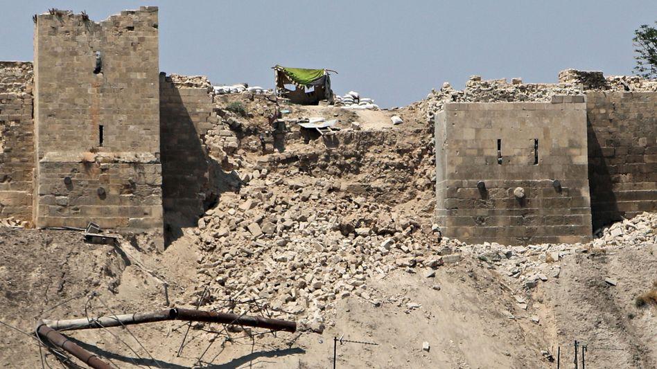Zerstörte Zitadelle von Aleppo: Unklar ist, wer die Verantwortung trägt