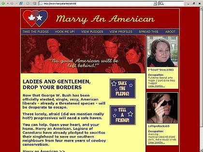 """Das ist Solidarität: """"Heirate einen Amerikaner"""""""