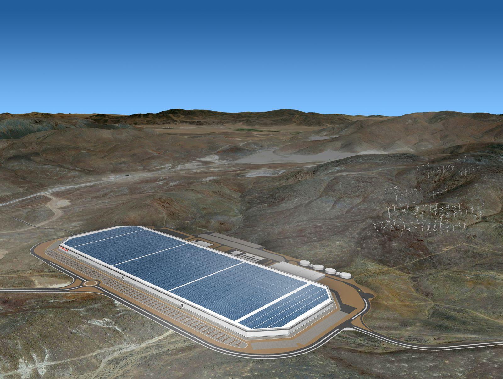 EINMALIGE VERWENDUNG TESLA Gigafactory 1