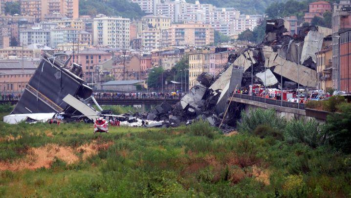 """Brückeneinsturz in Genua: """"Eine tiefe Wunde für ganz Italien"""""""
