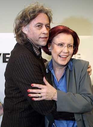 Popstar Geldof, Ministerin Wieczorek-Zeul: Gemeinsam gegen Hunger und Elend