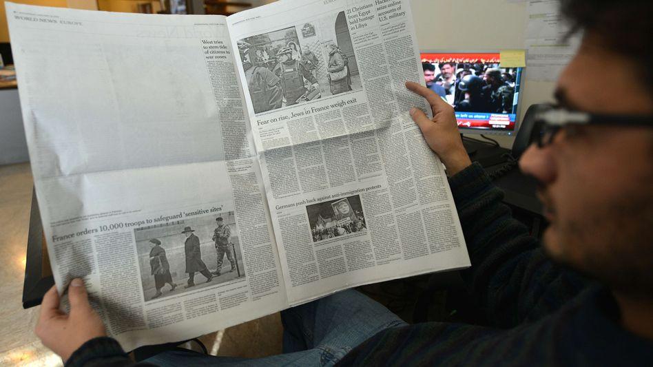 """Internationale Ausgabe der """"New York Times"""" (in Pakistan): Leerstelle statt Karikatur"""