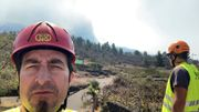 Zwei Kilometer neben dem Vulkan