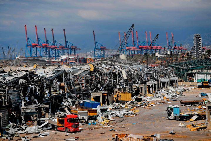 Hafen von Beirut nach den Explosionen: Die Mächtigen weisen die Schuld von sich