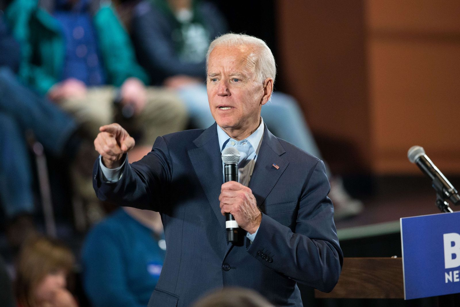 US-PRESIDENTIAL-CANDIDATE-JOE-BIDEN-HOLDS-CAMPAIGN-TOWN-HALLS-IN