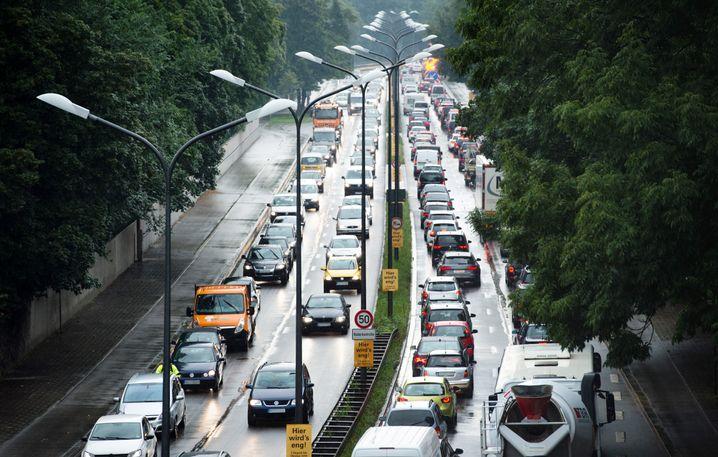 Mittlerer Ring in München: permanenter Verkehrsinfarkt