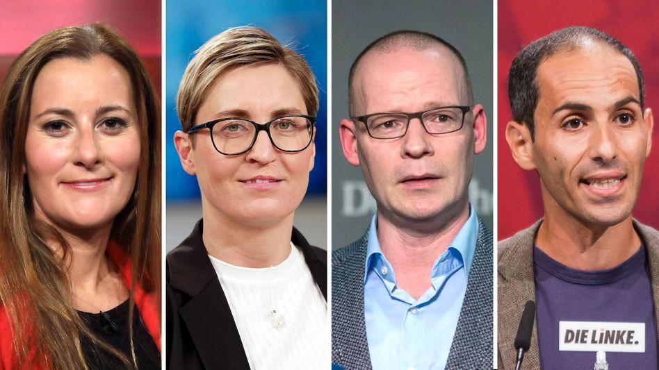 Mögliche Kandidaten für den Linken-Vorsitz: Janine Wissler, Susanne Hennig-Wellsow, Matthias Höhn, Ali Al-Dailami (v.l.)