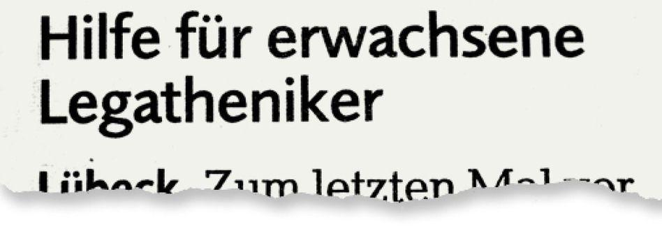 Aus dem Lübecker »Wochenspiegel«