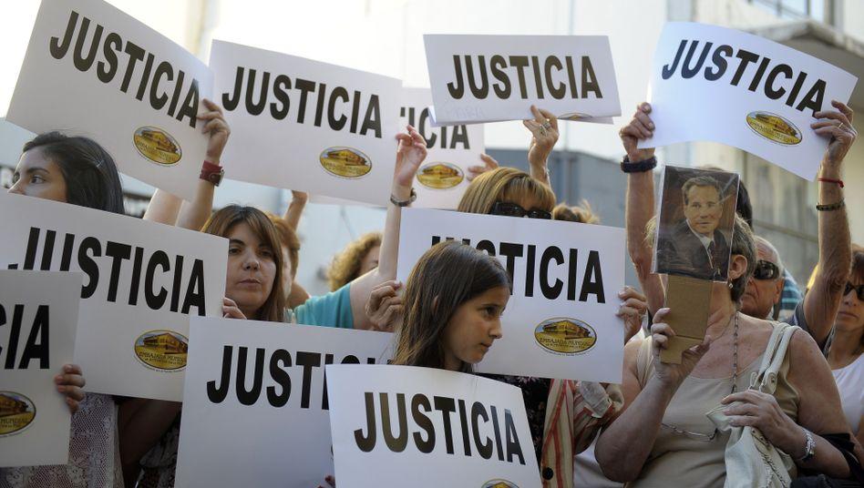Argentinische Demonstranten fordern Aufklärung im Fall des toten Sonderermittlers