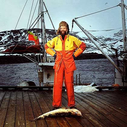 Fischer Sigurdsson: An Deck plärrt die Musik des Radiosenders P1