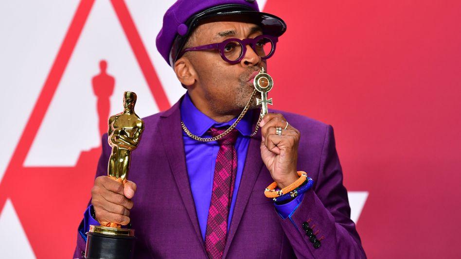 Nach Jahren der Schmähung endlich der Oscar: Spike Lee mit der goldenen Statue
