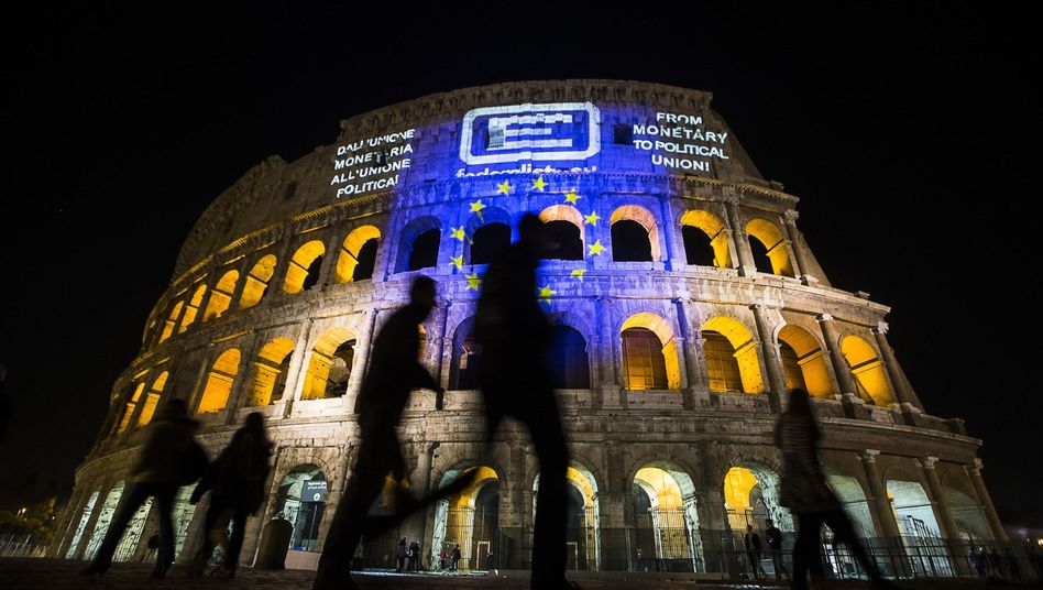 Colosseum in Rom (anlässlich des 60-jährigen Jubiläums der Römer Verträge)