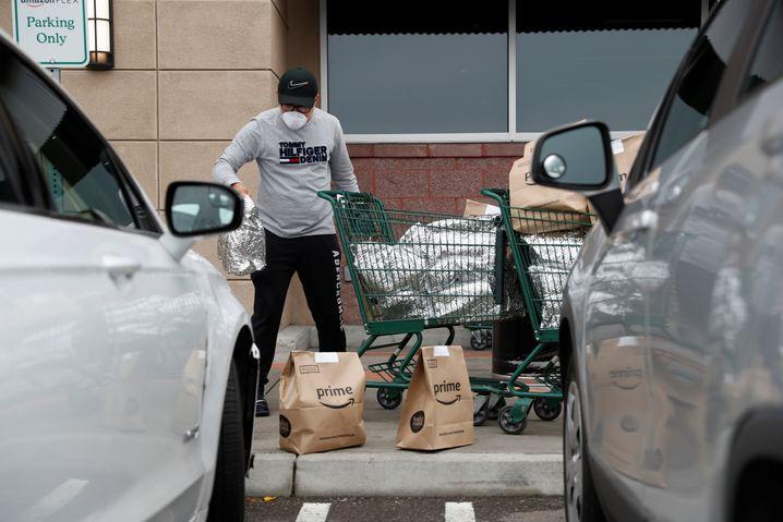 Amazon-Flex-Fahrer in Kalifornien