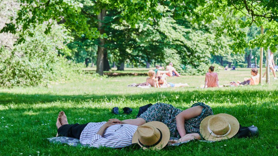 Zwei Berliner im Tiergarten