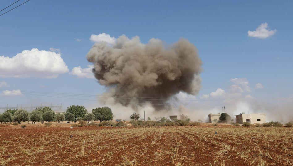 Explosion in der syrischen Provinz Idlib am 8. September