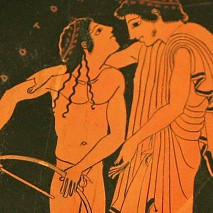 """Antike erotische Darstellung: """"Typische Schlafzimmeraktivität"""""""