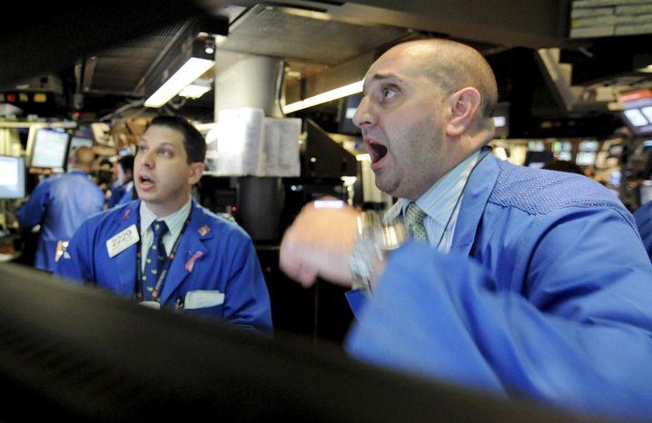 Händler an der Wall Street: Hochfrequenztrading mitverantwortlich für die wilden Kursstürze