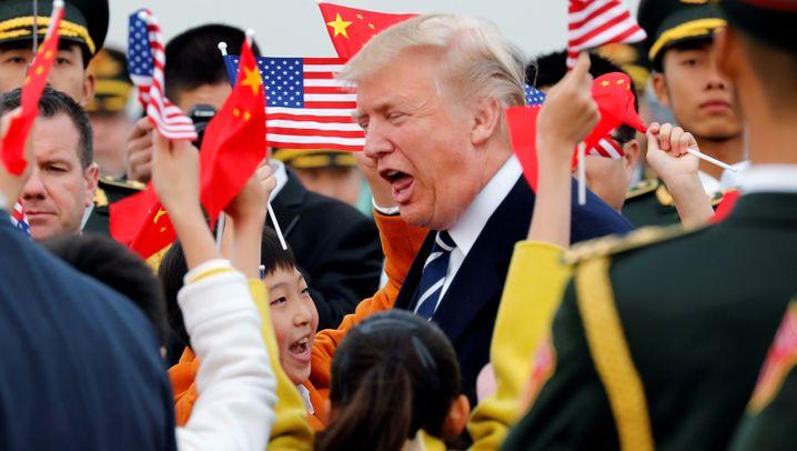 Trump in China: Milliardendeals, Sightseeing und etwas Politik