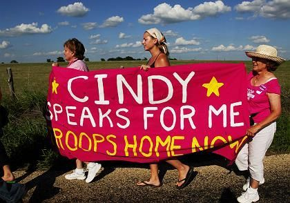 Grieving mother Cindy Sheehan has been joined by others who are against the Iraq war.