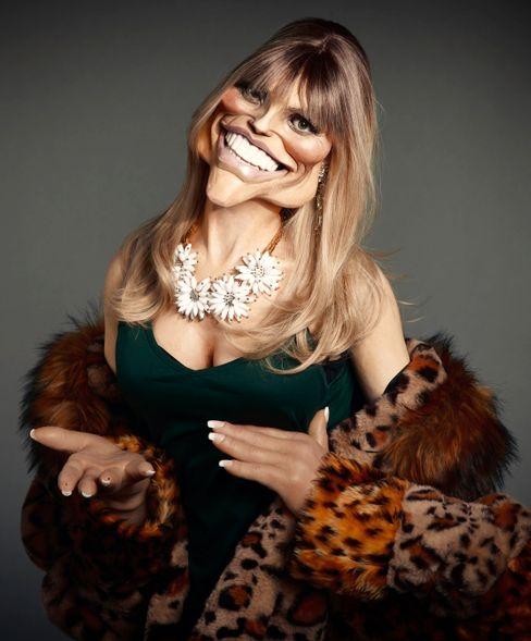 Heidi-Klum-Puppe für »Spitting Image: The Krauts' Edition«